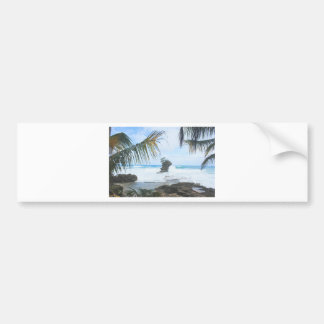 caribbean paradise bumper sticker