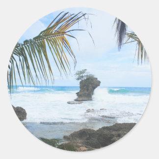 caribbean paradise classic round sticker