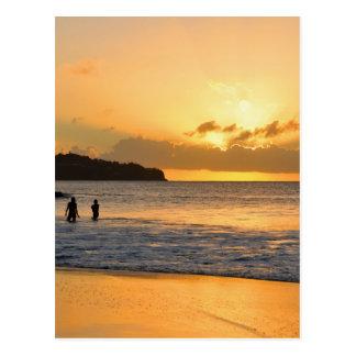 Caribbean paradise postcard