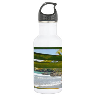caribbean paradise stainless steel water bottle
