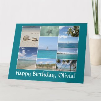 Caribbean Photo Collage *customize* Name Card