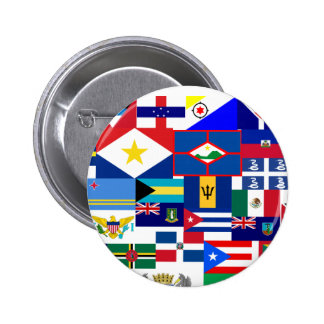 caribbean pinback button