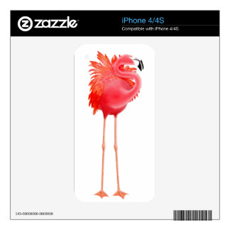 Caribbean Pink Flamingo Zazzle Skin Skins For iPhone 4