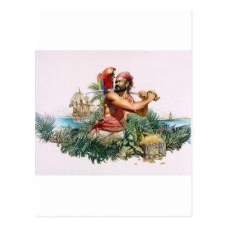 Caribbean Pirate Postcard