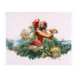 Caribbean Pirate Postcard