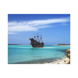 Caribbean Pirate Ship Canvas Print