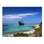 Caribbean Pirate Ship Post Card
