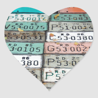 caribbean plates heart sticker