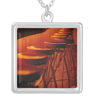 Caribbean, Puerto Rico, San Juan, Water Club Silver Plated Necklace