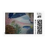caribbean reef life postage stamp