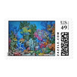 Caribbean Reef Postage Stamp