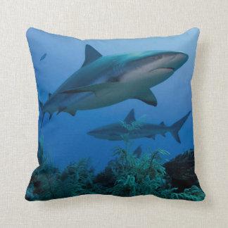 Caribbean Reef Shark Jardines de la Reina Throw Pillow