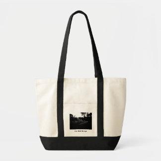 Caribbean Resort Black and White Tote Bag