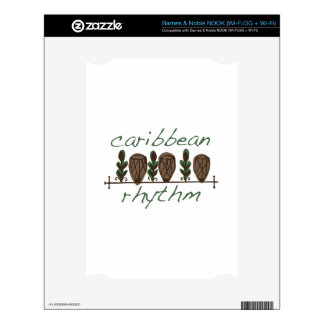 Caribbean Rhythm Skins For NOOK