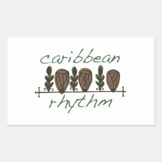 Caribbean Rhythm Rectangular Sticker
