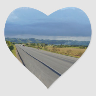 caribbean road heart sticker
