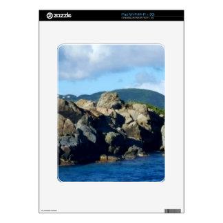 Caribbean Rocky Barrier St. Thomas Landscape iPad Decals