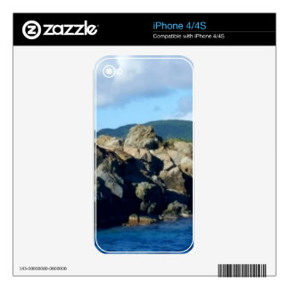 Caribbean Rocky Barrier St. Thomas Landscape iPhone 4 Decals
