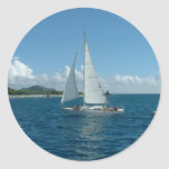 Caribbean Sailboat, I'd rather be sailing! Classic Round Sticker