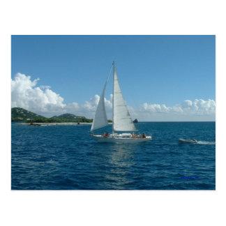 Caribbean Sailboat, I'd rather be sailing! Postcard