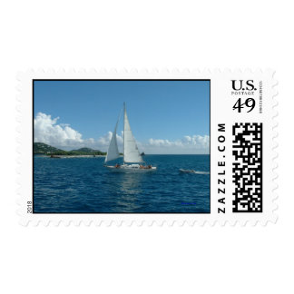 Caribbean Sailboat, postage