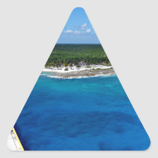 Caribbean Sapphire.JPG Triangle Sticker