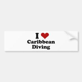 Caribbean Scuba Diving Bumper Sticker