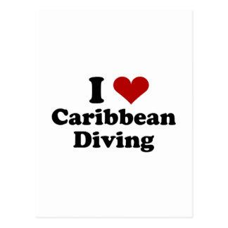 Caribbean Scuba Diving Postcard