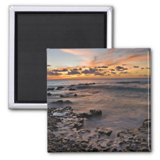 Caribbean Sea, Cayman Islands. Crashing waves 2 2 Inch Square Magnet