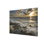 Caribbean Sea, Cayman Islands.  Crashing waves 2 Canvas Print
