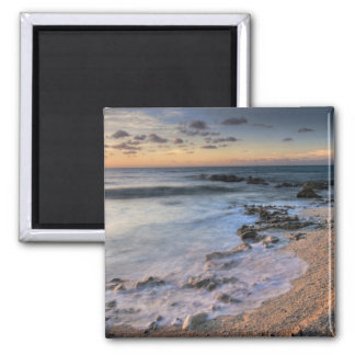 Caribbean Sea, Cayman Islands. Crashing waves 2 Inch Square Magnet