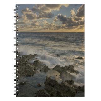 Caribbean Sea, Cayman Islands.  Crashing waves 2 Notebook