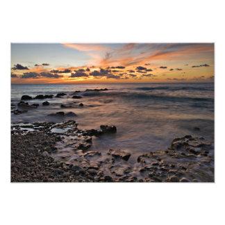 Caribbean Sea, Cayman Islands. Crashing waves 2 Photo Print