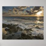 Caribbean Sea, Cayman Islands.  Crashing waves 2 Poster