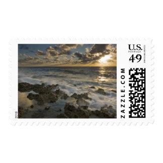 Caribbean Sea, Cayman Islands.  Crashing waves 2 Stamp