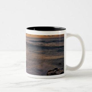 Caribbean Sea, Cayman Islands. Crashing waves 2 Two-Tone Coffee Mug