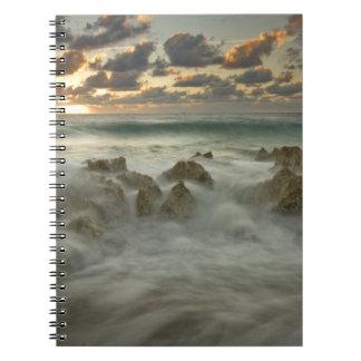 Caribbean Sea, Cayman Islands.  Crashing waves 3 Notebook