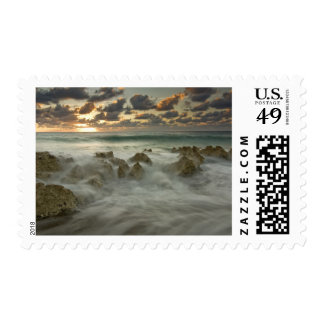 Caribbean Sea, Cayman Islands.  Crashing waves 3 Postage