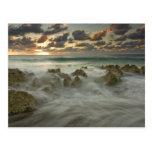 Caribbean Sea, Cayman Islands.  Crashing waves 3 Post Cards