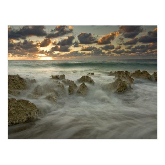 Caribbean Sea, Cayman Islands.  Crashing waves 3 Postcard