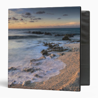 Caribbean Sea, Cayman Islands. Crashing waves 3 Ring Binder