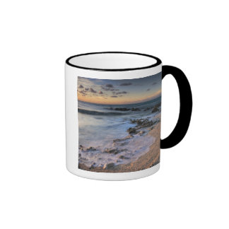 Caribbean Sea, Cayman Islands. Crashing waves Ringer Coffee Mug