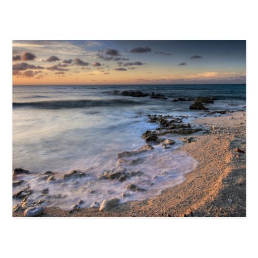Caribbean Sea, Cayman Islands. Crashing waves Post Cards