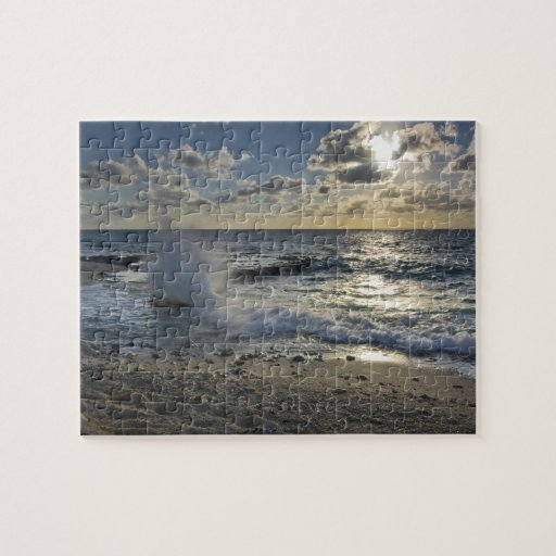 Caribbean Sea, Cayman Islands.  Crashing waves Jigsaw Puzzles