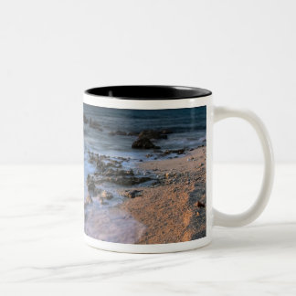 Caribbean Sea, Cayman Islands. Crashing waves Two-Tone Coffee Mug