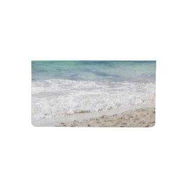 Beach Themed Caribbean Sea Checkbook Cover