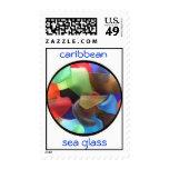 caribbean sea glass stamp