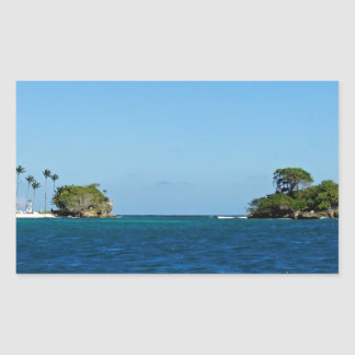 caribbean sea rectangular sticker