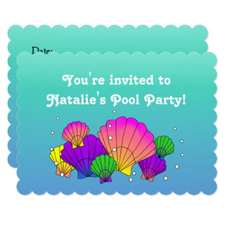 Caribbean Sea Shells with Bubbles Card