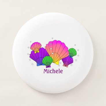 Beach Themed Caribbean Sea Shells with Bubbles Customized Wham-O Frisbee